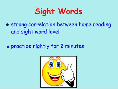 Sight Words Slide